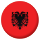 Albania Country Flag 58mm Mirror Keyring